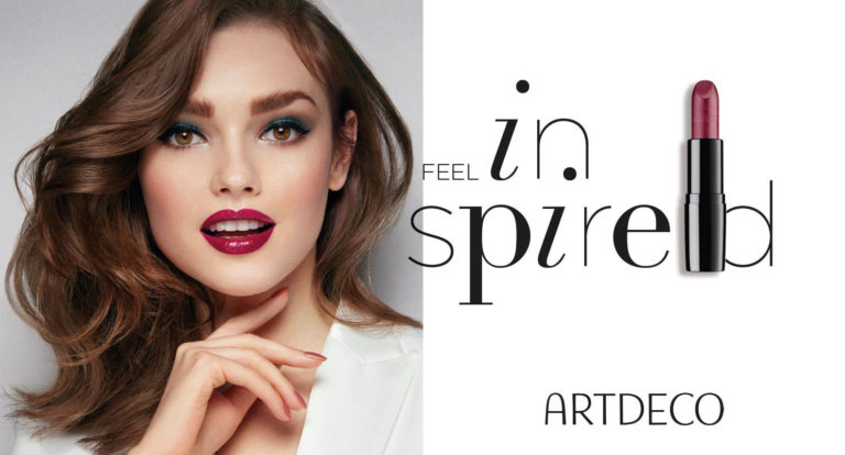 Artdeco: Feel Inspired (Banner with Model wearing lipstick)