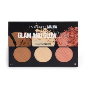 inglot x maura glam and glow trio palette medium