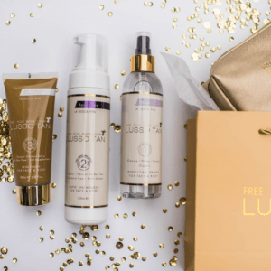 lusso tan body kit with primer tan lotion and perfector
