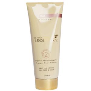 lusso tan self tanning lotion dark
