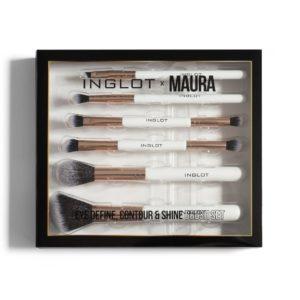 inglot eye define contour & shine brush set (box)