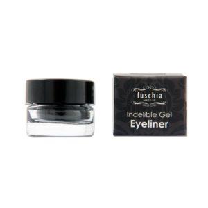 fuschia gel eyeliner black out