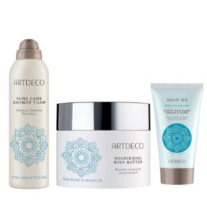 artdeco blue body care gift set